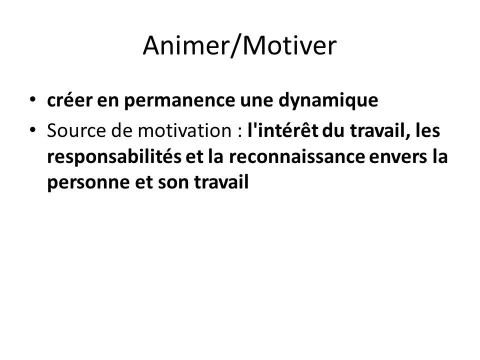 Animer/Motiver créer en permanence une dynamique