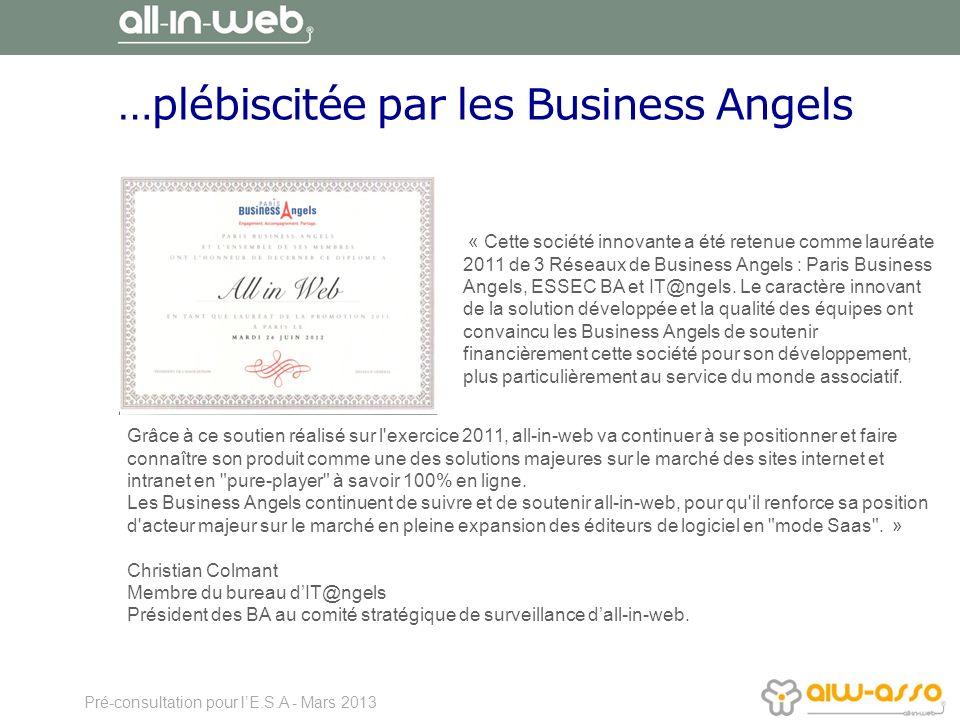 …plébiscitée par les Business Angels