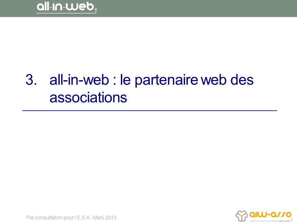 all-in-web : le partenaire web des associations