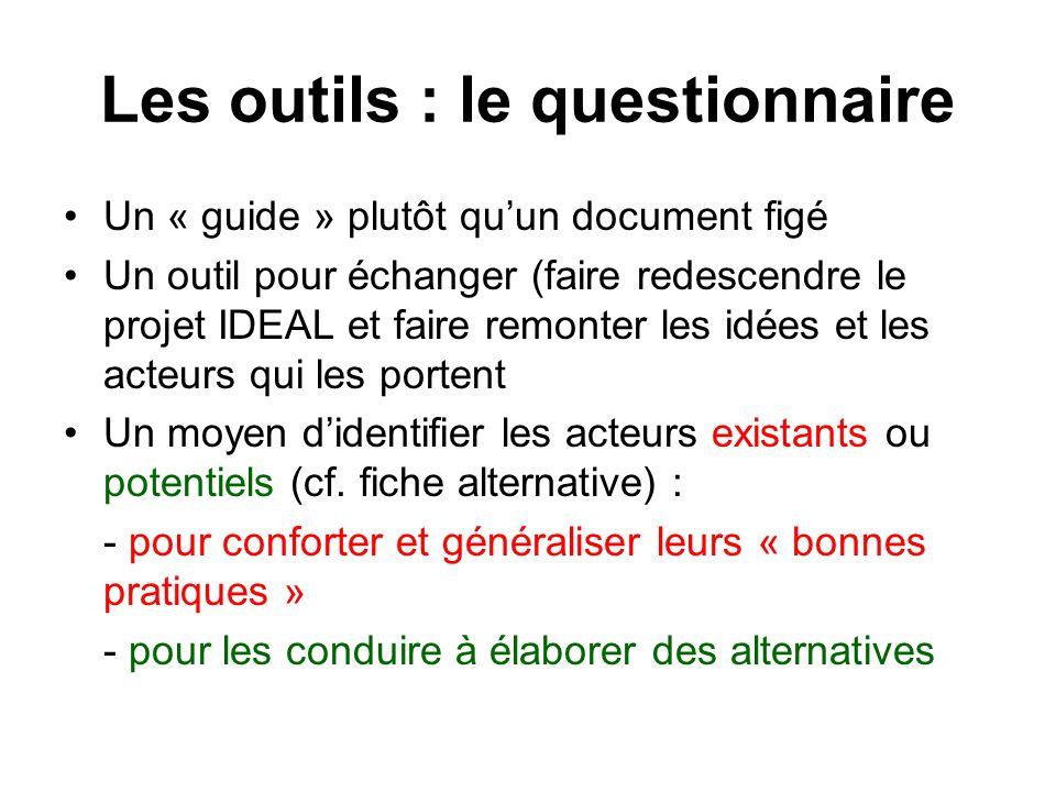 Les outils : le questionnaire