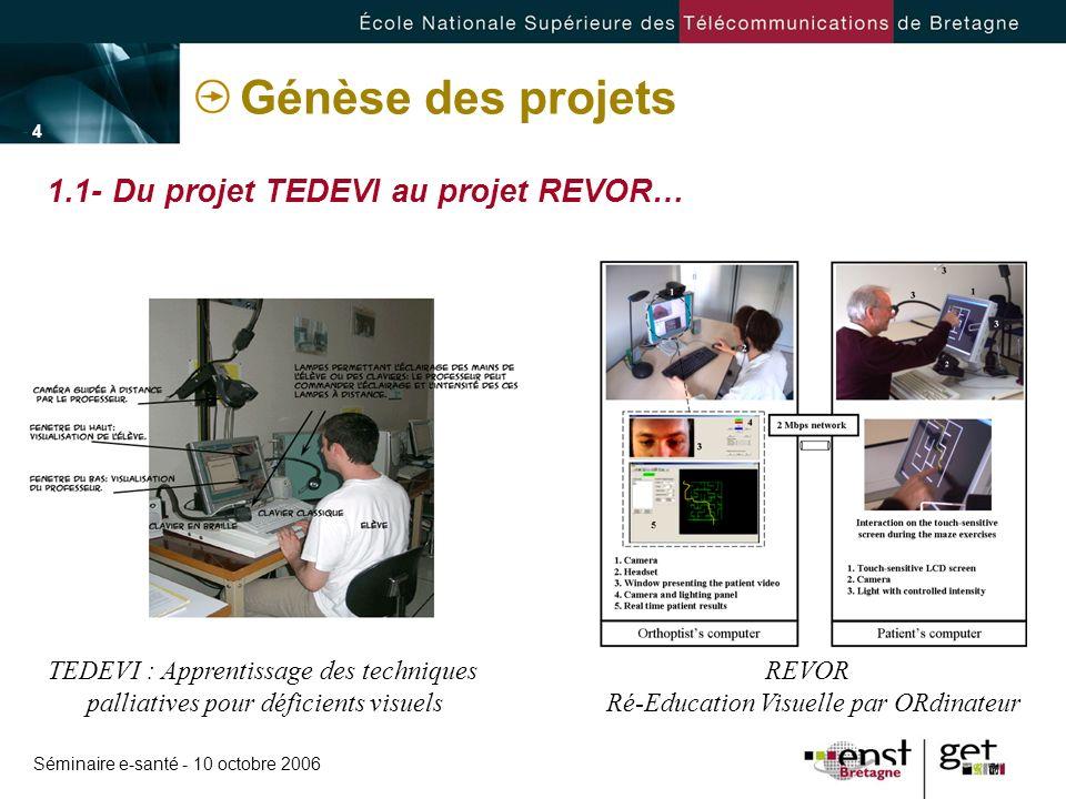 Génèse des projets 1.1- Du projet TEDEVI au projet REVOR…