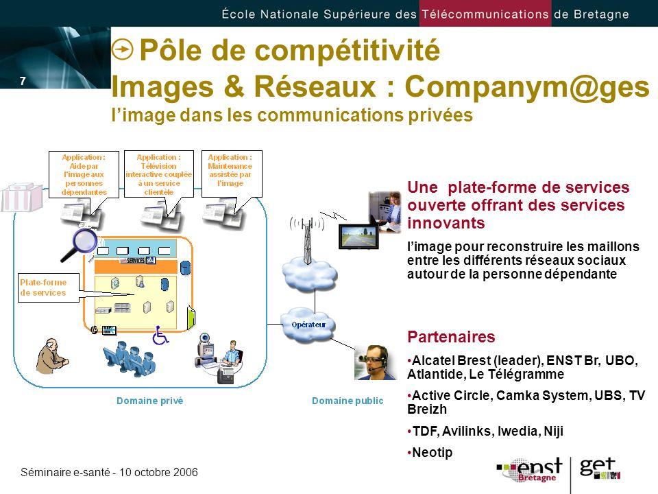 Pôle de compétitivité Images & Réseaux : Companym@ges l'image dans les communications privées