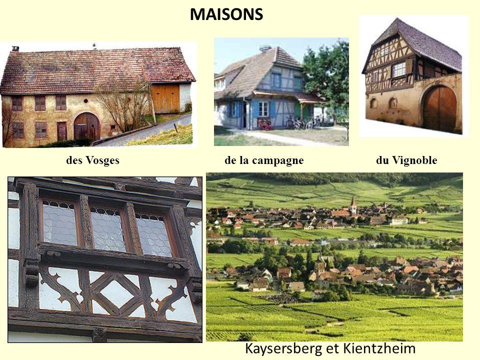 MAISONS des Vosges de la campagne du Vignoble