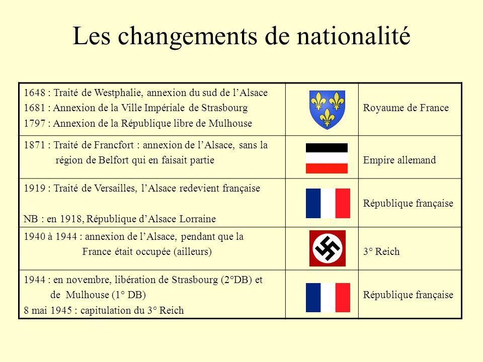 Les changements de nationalité