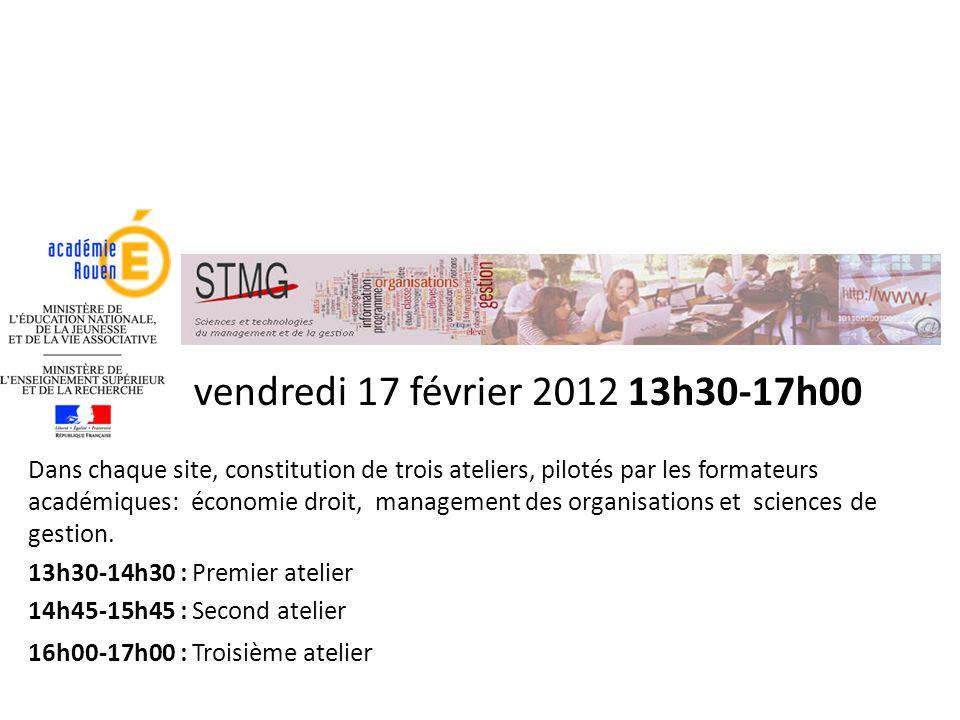 vendredi 17 février 2012 13h30-17h00