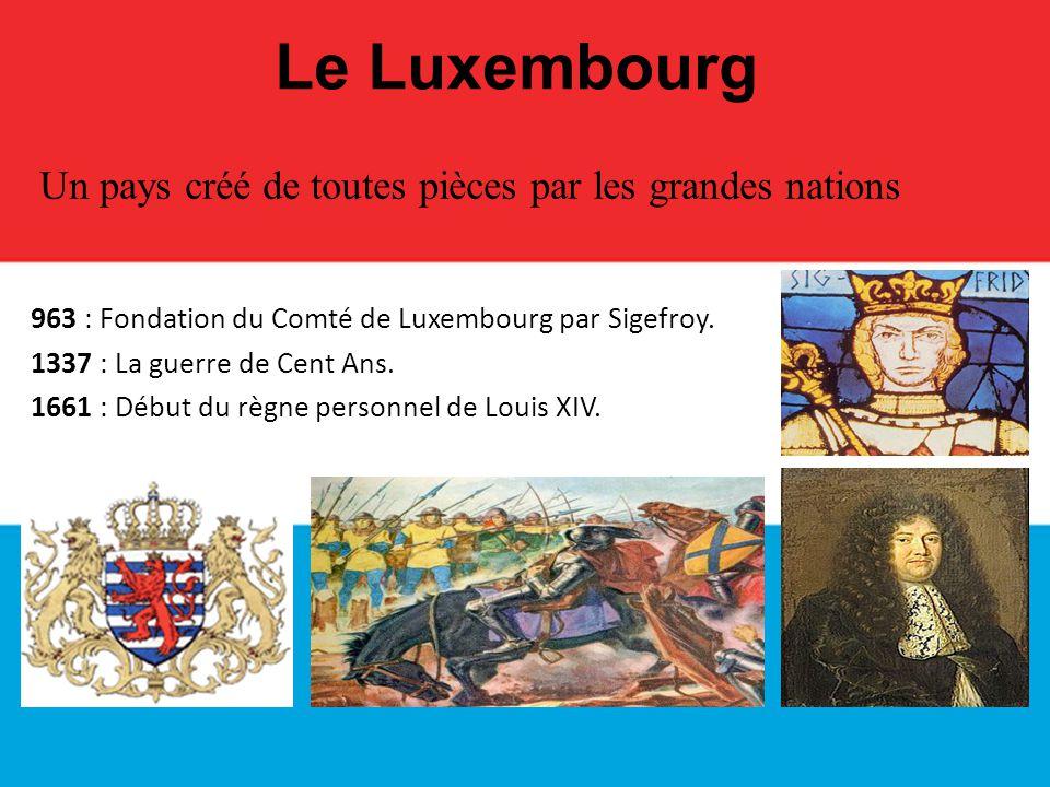 Le Luxembourg Un pays créé de toutes pièces par les grandes nations