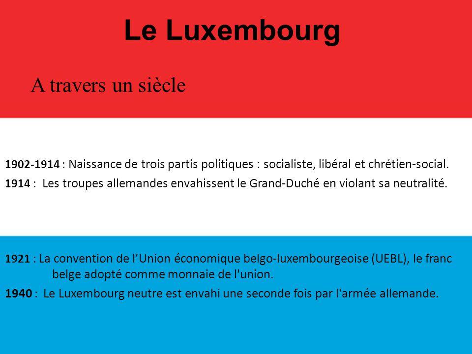 Le Luxembourg A travers un siècle