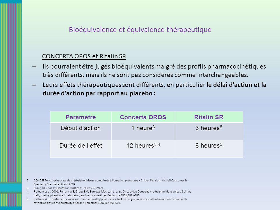 Bioéquivalence et équivalence thérapeutique