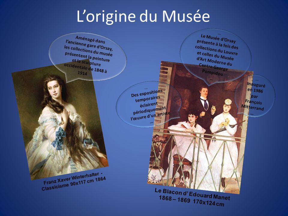 L'origine du Musée Le Blacon d' Edouard Manet 1868 – 1869 170x124 cm