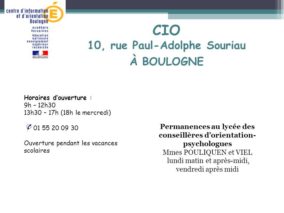 CIO 10, rue Paul-Adolphe Souriau À BOULOGNE