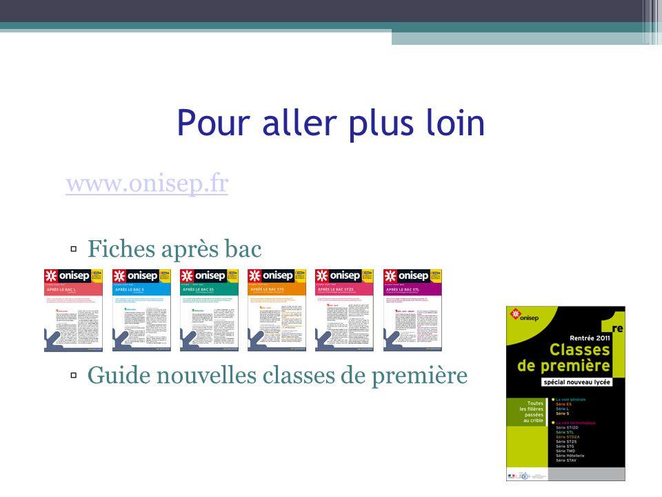 Pour aller plus loin www.onisep.fr Fiches après bac