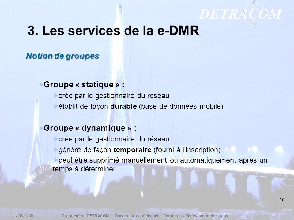 3. Les services de la e-DMR