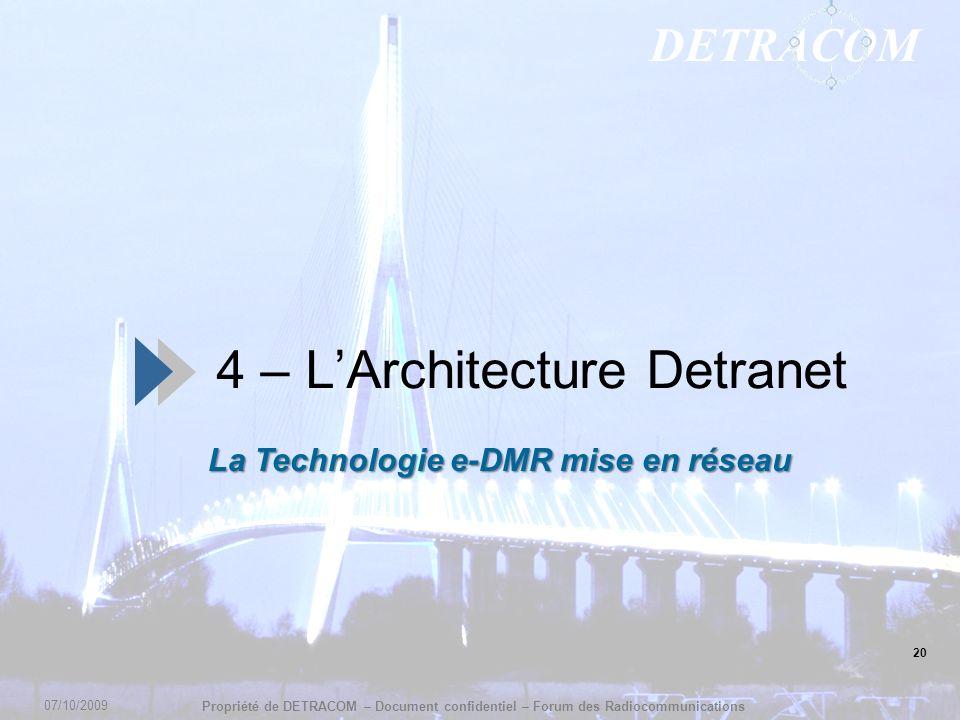 4 – L'Architecture Detranet