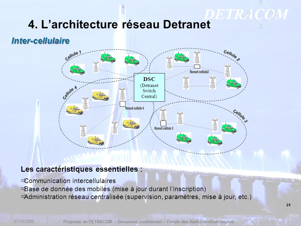4. L'architecture réseau Detranet