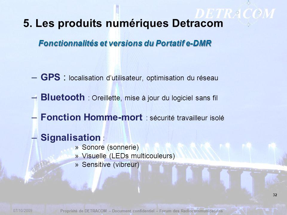 Fonctionnalités et versions du Portatif e-DMR