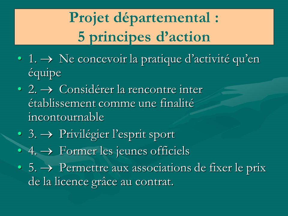 Projet départemental : 5 principes d'action