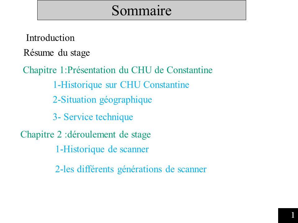 Sommaire Introduction Résume du stage