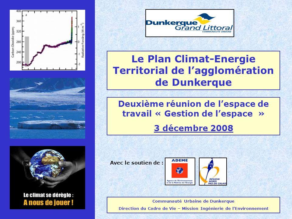 Le Plan Climat-Energie Territorial de l'agglomération de Dunkerque