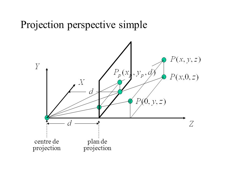 Projection perspective simple