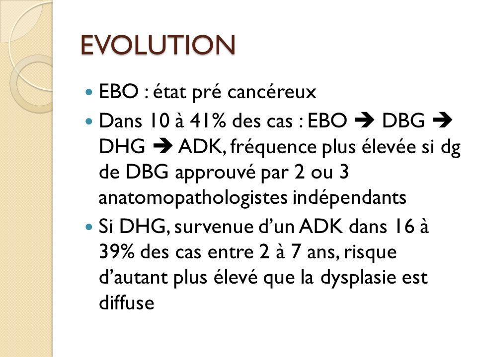 EVOLUTION EBO : état pré cancéreux