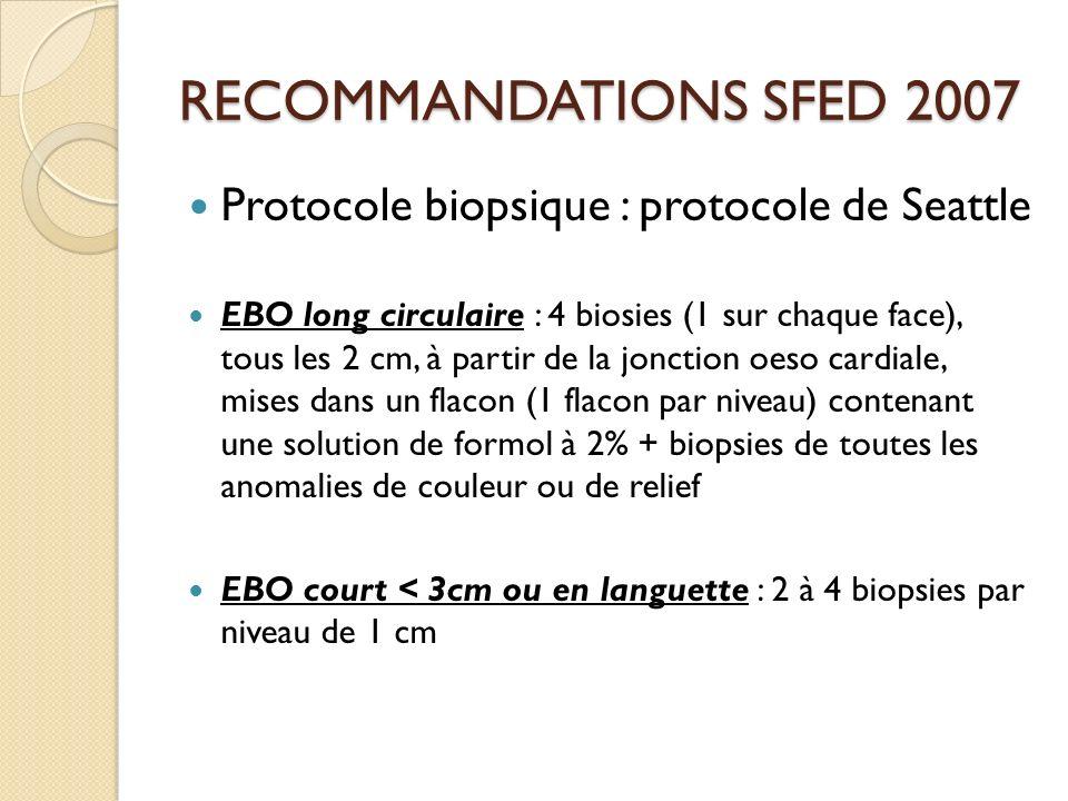 RECOMMANDATIONS SFED 2007 Protocole biopsique : protocole de Seattle