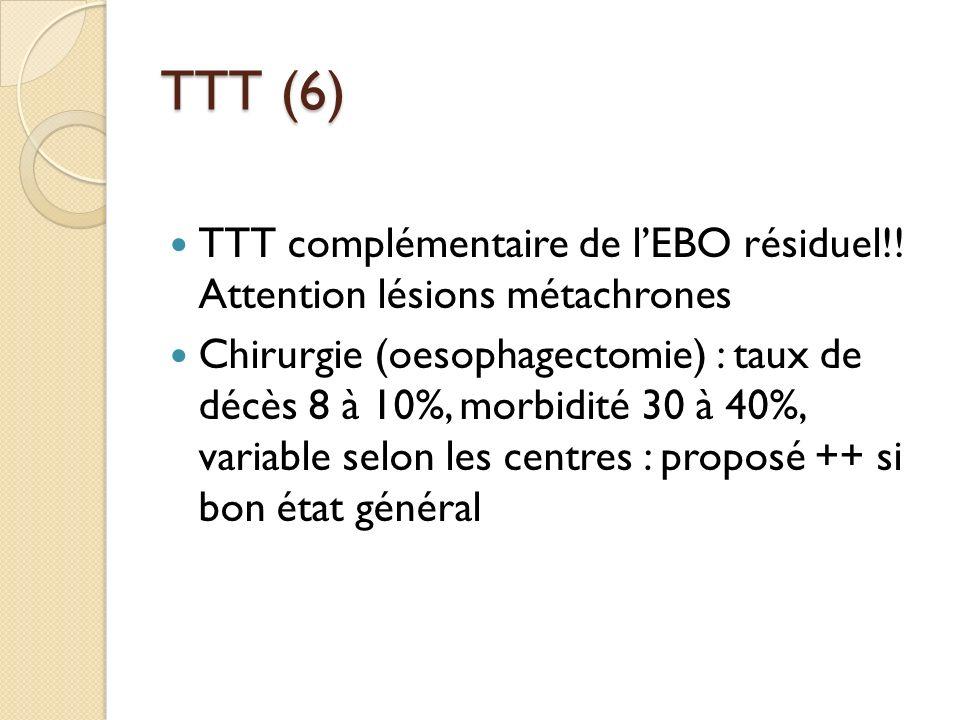 TTT (6) TTT complémentaire de l'EBO résiduel!! Attention lésions métachrones.