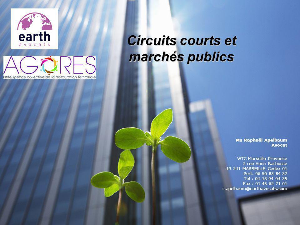 Circuits courts et marchés publics
