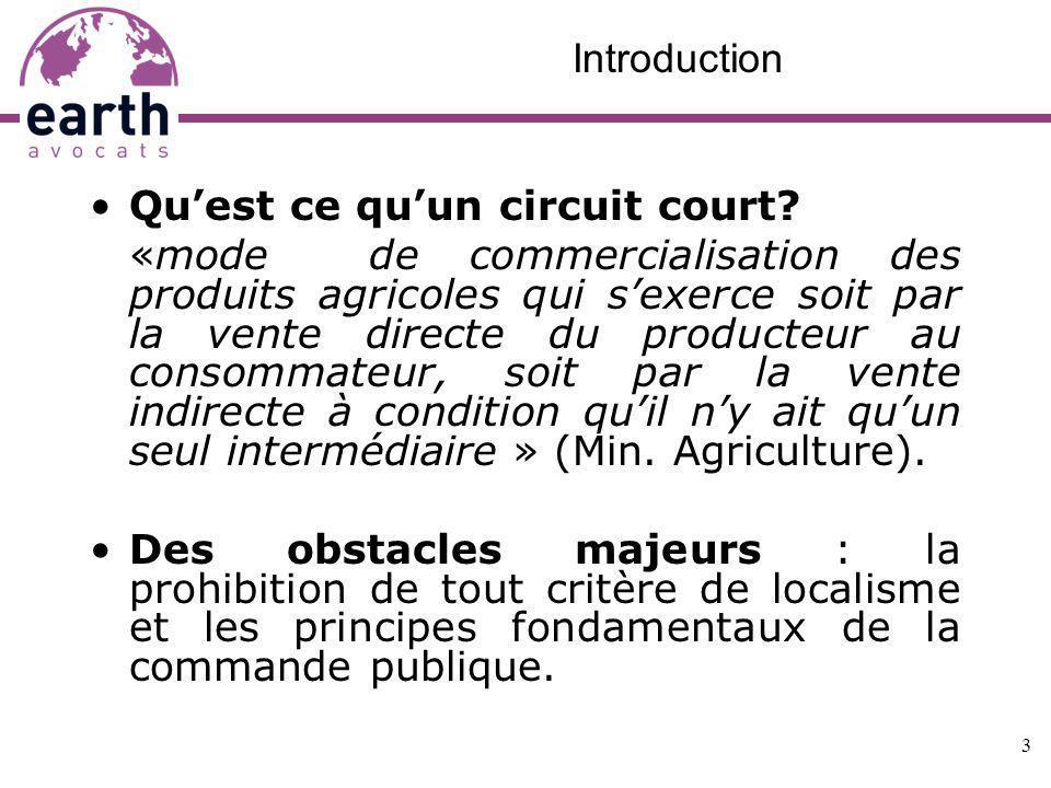 Introduction Qu'est ce qu'un circuit court