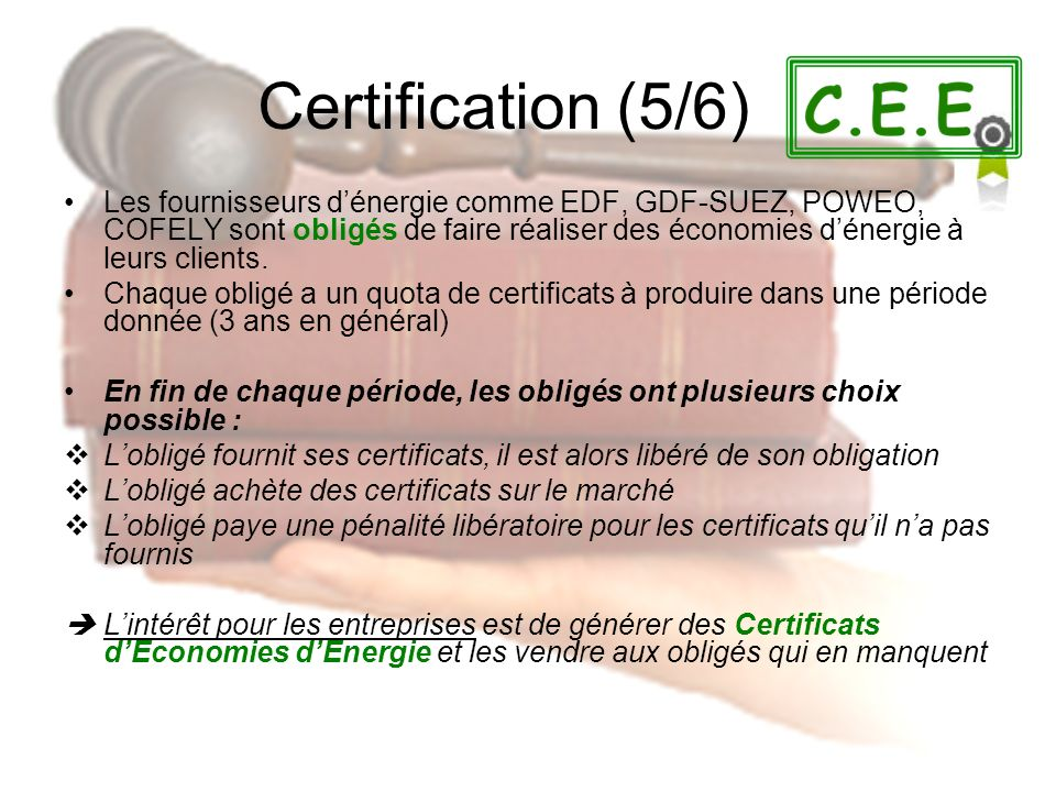 Certification (5/6)