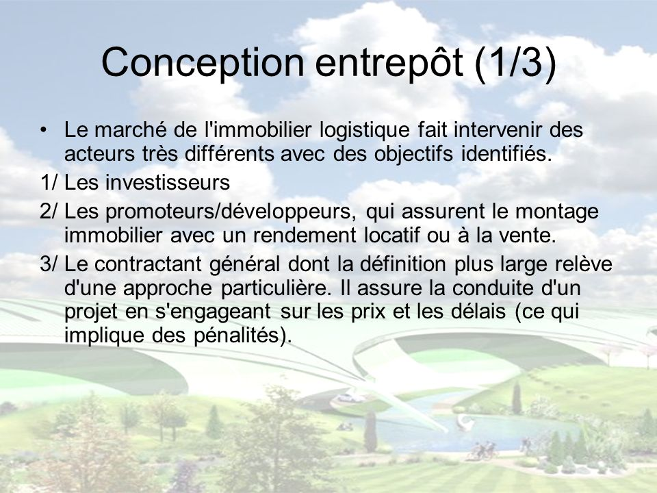 Conception entrepôt (1/3)