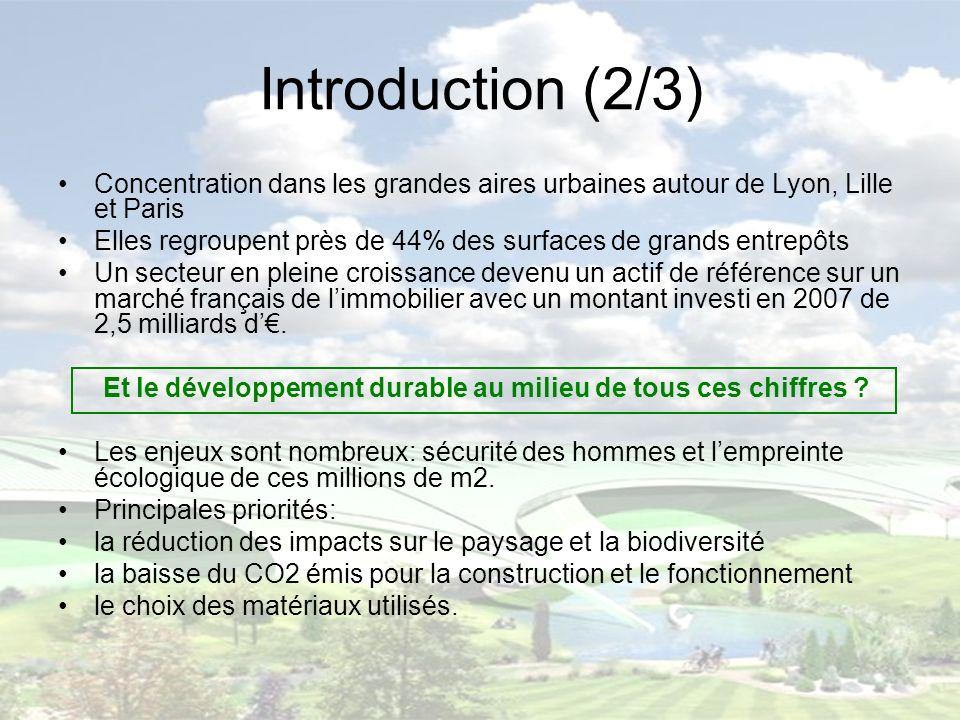 Introduction (2/3) Concentration dans les grandes aires urbaines autour de Lyon, Lille et Paris.
