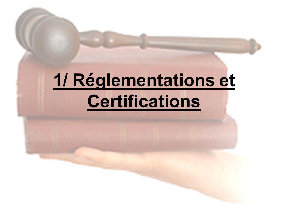 1/ Réglementations et Certifications