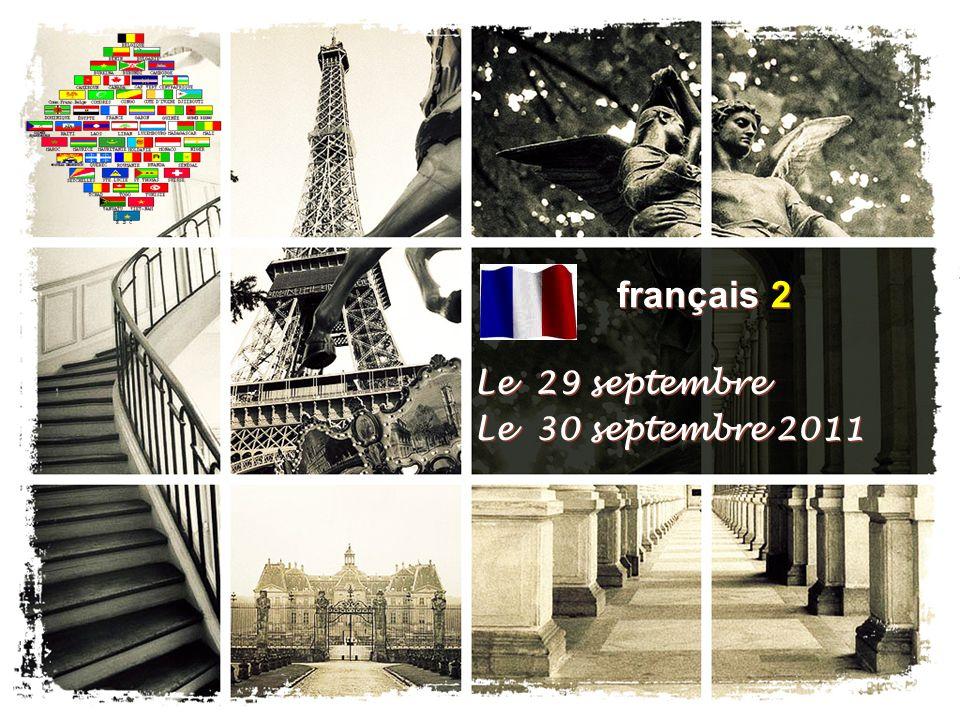 Le 29 septembre Le 30 septembre 2011