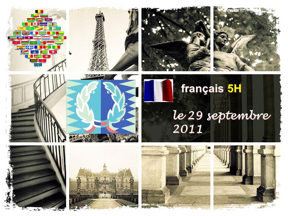 français 5H le 29 septembre 2011