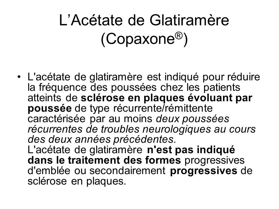 L'Acétate de Glatiramère (Copaxone®)