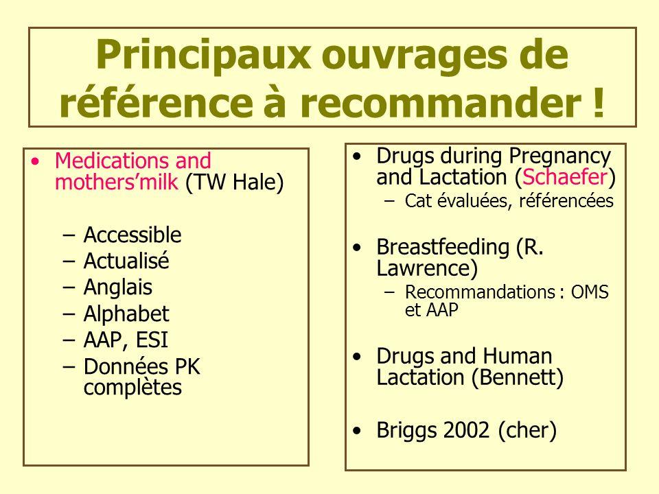 Principaux ouvrages de référence à recommander !