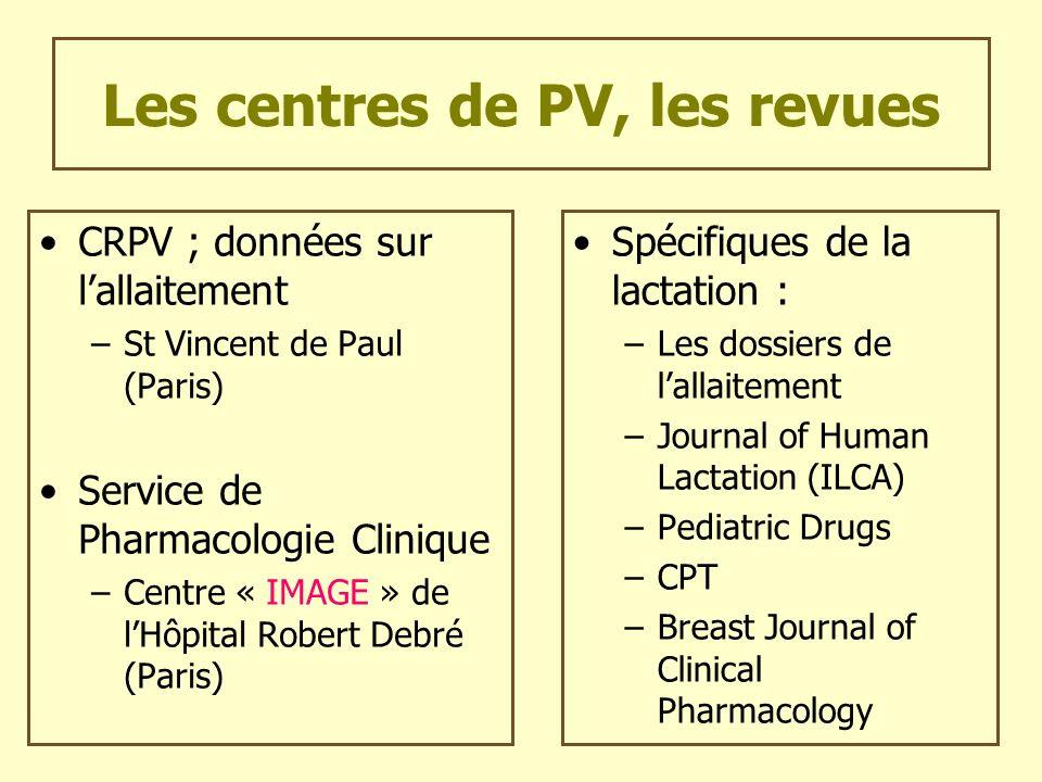 Les centres de PV, les revues