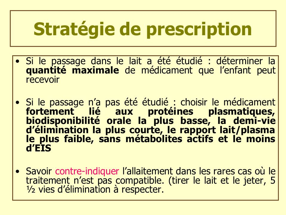 Stratégie de prescription