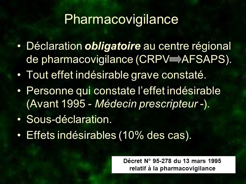 relatif à la pharmacovigilance