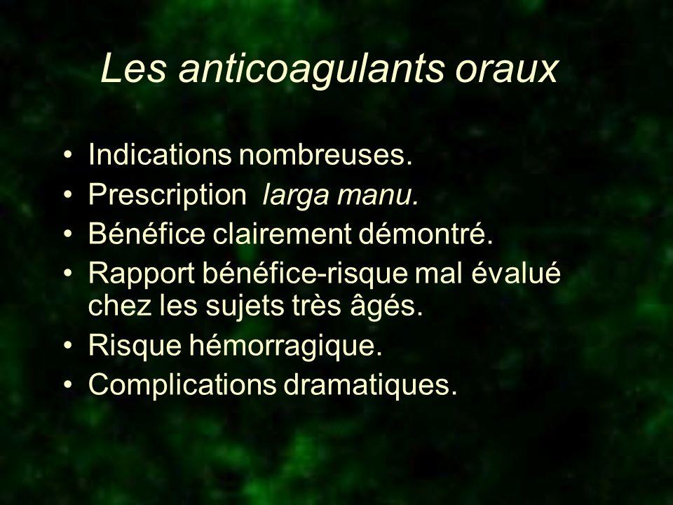 Les anticoagulants oraux