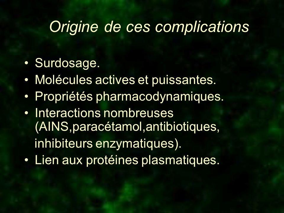 Origine de ces complications