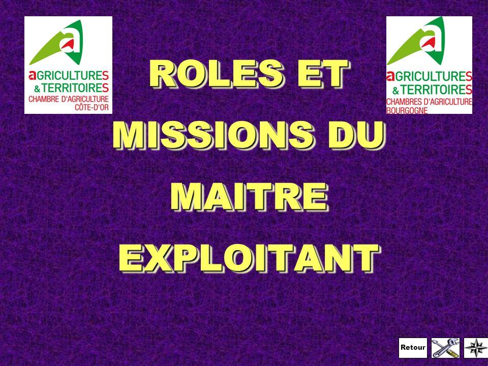 ROLES ET MISSIONS DU MAITRE EXPLOITANT