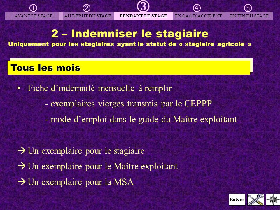 2 – Indemniser le stagiaire