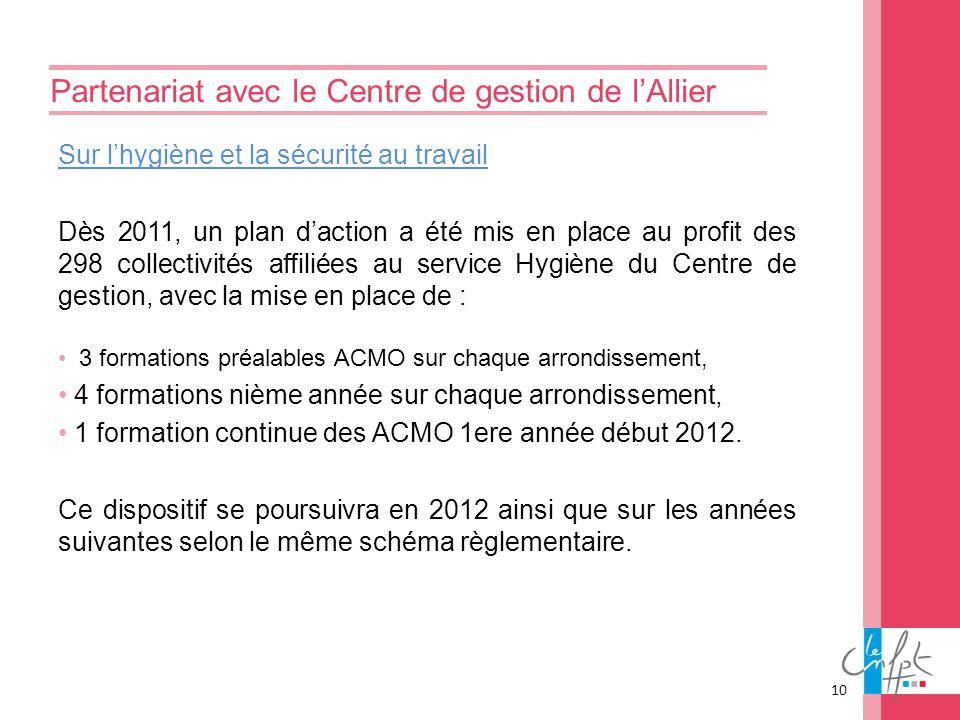 Partenariat avec le Centre de gestion de l'Allier