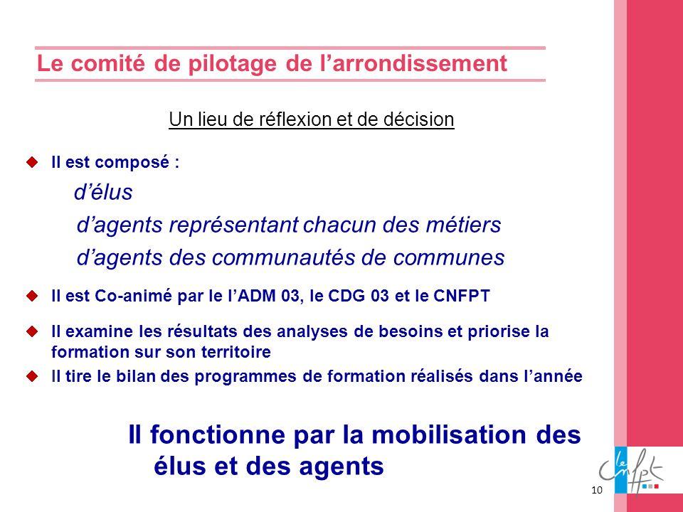 Le comité de pilotage de l'arrondissement