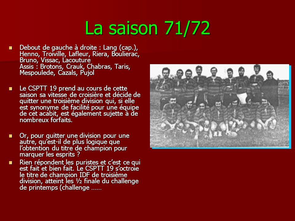 La saison 71/72