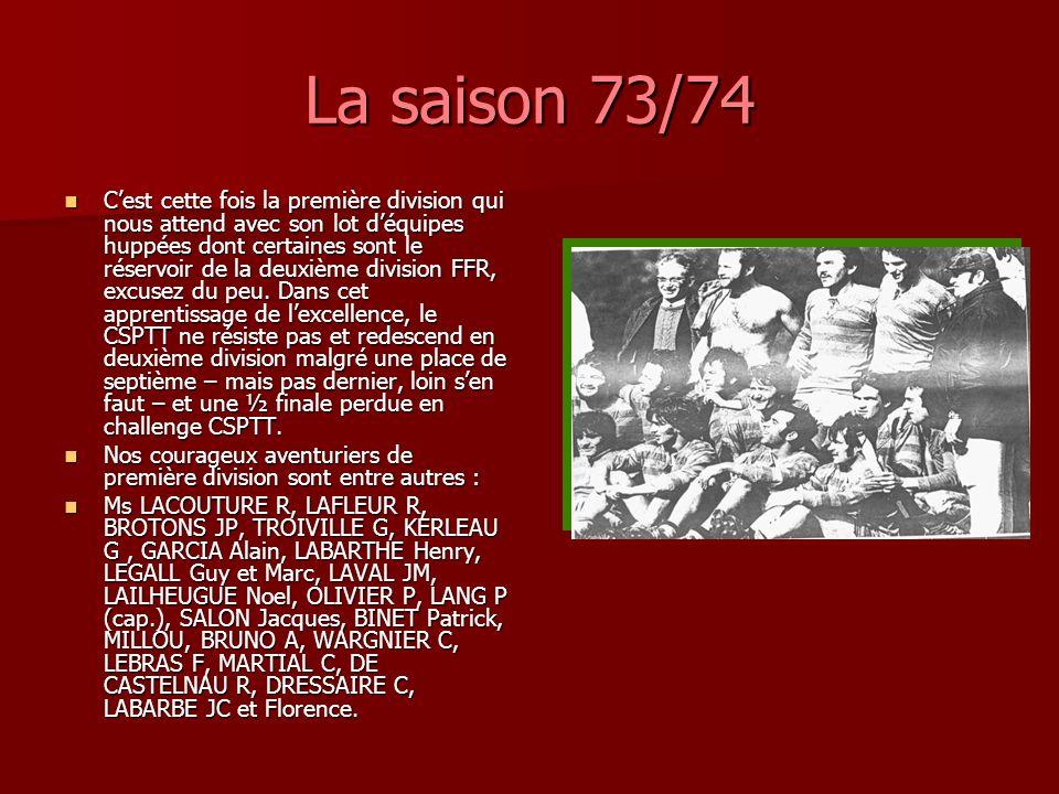 La saison 73/74