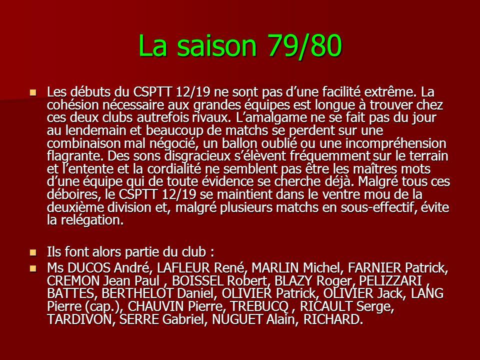 La saison 79/80