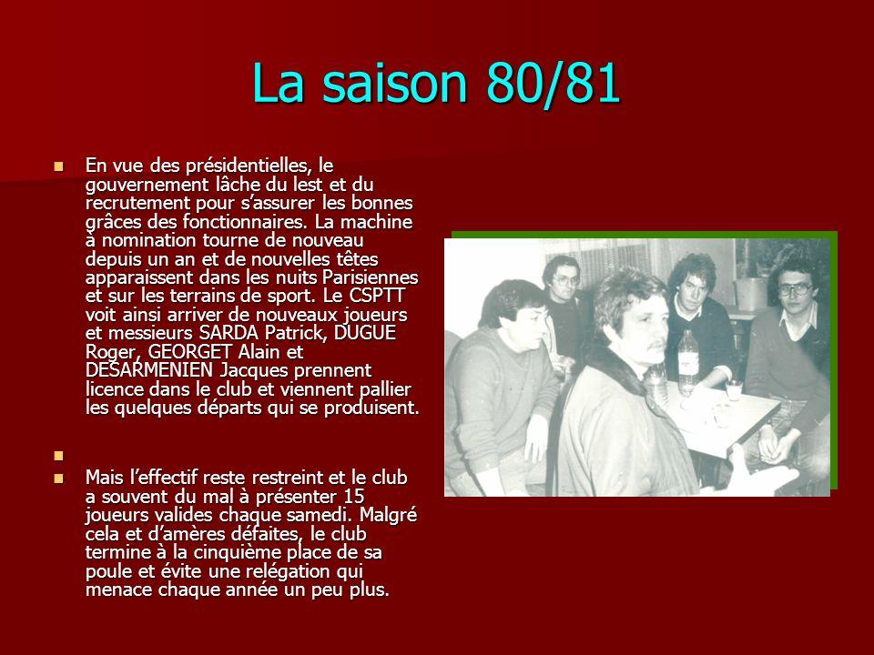 La saison 80/81
