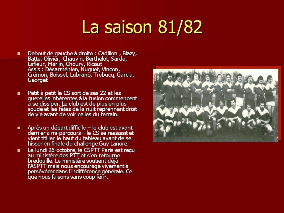 La saison 81/82